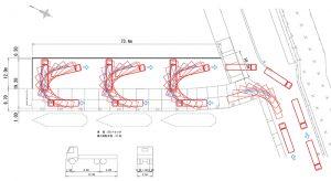 車両軌跡による道路幅検討